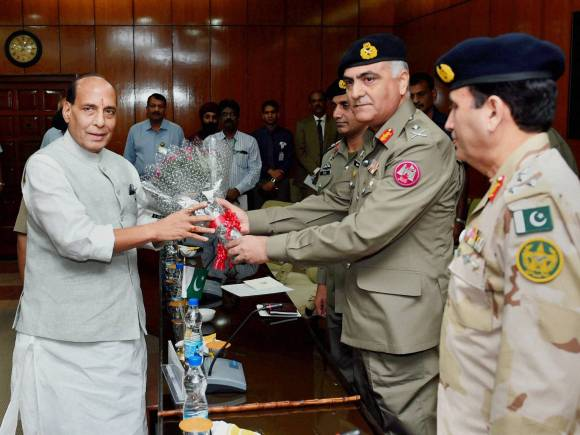 Home Minister of India, Rajnath Singh, India, Pakistan, India-Pakistan, Pakistani Rangers Director General, Umar Farooq Burki, BSF, Border Security Force, DG-level talks, World, Pakistan, diplomacy, India-Pakistan