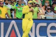 Australia's Aaron Finch takes a catch to dismiss Pakistan's captain Misbah Ul Haq