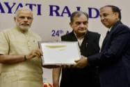 Prime Minister, Narendra Modi present the State awards and E-Panchayat Awards