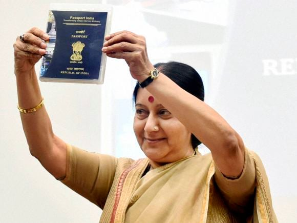 Foreign Minister of india, Sushma Swaraj, Passport, Passport Seva Divas, V K Singh,Passport Seva, New Delhi
