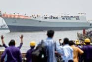 Navy launches stealth destroyer INS Visakhapatnam