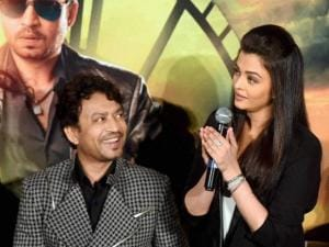 Irrfan Khan and Aishwarya Rai