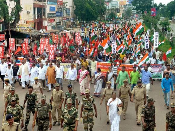 Bharat bandh, BSP activists protest, Trade Unions, Bharat bandh photos, Trade union workers, Country-wide one-day strike