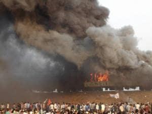 Kapu Activists Burn Ratnachal Express