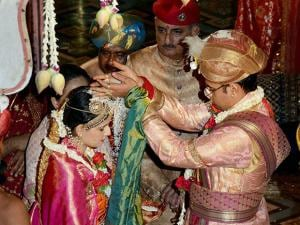 King Yaduveer marries Trishika Kumari at Mysore Palace 02