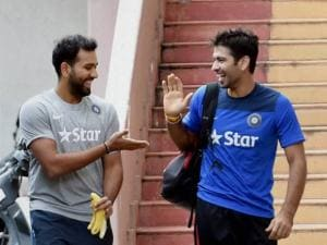 Cricketers Rohit Sharma and Naman Ojha