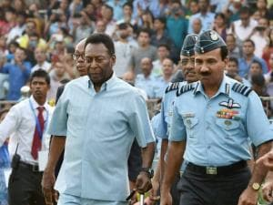 Pele reacts as Chief of the Air Staff Air Chief Marshal Arup Raha