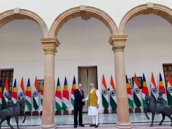 Seychelles President, President of Seychelles, Prime Minister of India, Narendra Modi, James Alix Michel, Ceremonial Reception, Rashtrapati Bhawan