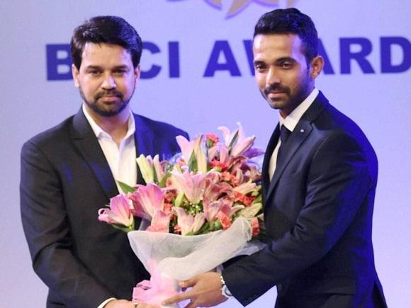 Ajinkya Rahane, BCCI Awards, BCCI Secretary, Anurag Thakur