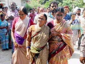 Relatives mourns after former Congress MP Sircilla Rajaiah