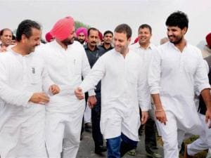 Vice President of Congress party Rahul Gandhi meeting with youth