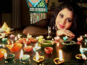 Actress Misti Mukherjee during a Diwali photo shoot in Mumbai