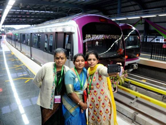 Metro Train, Magadi Road-Nayandahalli Reach 2 line in Bengaluru