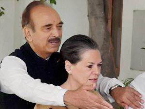 Congress President Sonia Gandhi and party senior leader Ghulam Nabi Azad