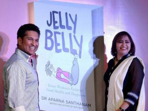 Sachin Tendulkar during the launch of a book 'Jelly Belly' wrriten by Aparna Santhanam