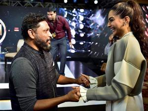 Shoojit Sircar with actress Sonam Kapoor