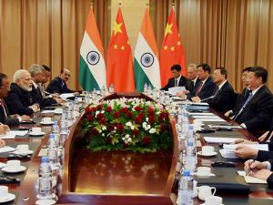 Delegations of India and China led by their respective leaders