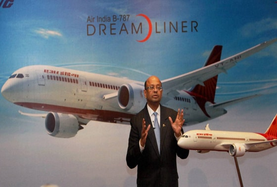 Boeing India President Dinesh Keskar during a press conference in New Delhi on Air India B787 Dreamliner's resuming operations