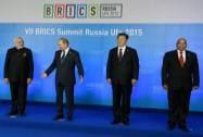 Narendra Modi, Vladimir Putin, Xi Jinping and Jacob Zuma