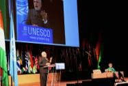 Prime Minister Narendra Modi speaks at the UNESCO