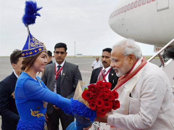 Prime Minister of India, Narendra Modi, Astana, Kazakhstan, Prime Minister of Kazakhstan, Karim Massimov
