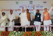 Prime Minister Narendra Modi with Union Agriculture Minister Radha Mohan Singh