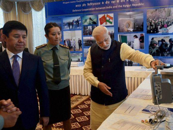 Prime Minister of India, Narendra Modi, India, Kyrgyz, Bishkek, Kyrgyzstan, Prime Minister of Kyrgyzstan, President of Kyrgyzstan, Temir Sariyev