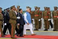 PM Modi arrives in Mauritius