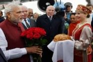 PM Modi arrives in Russia
