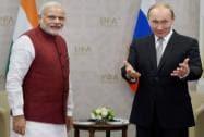 Prime Minister Narendra Modi with Russian President Vladimir Putin