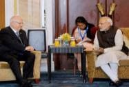 Prime Minister Narendra Modi with President of Israel, Reuven Rivlin