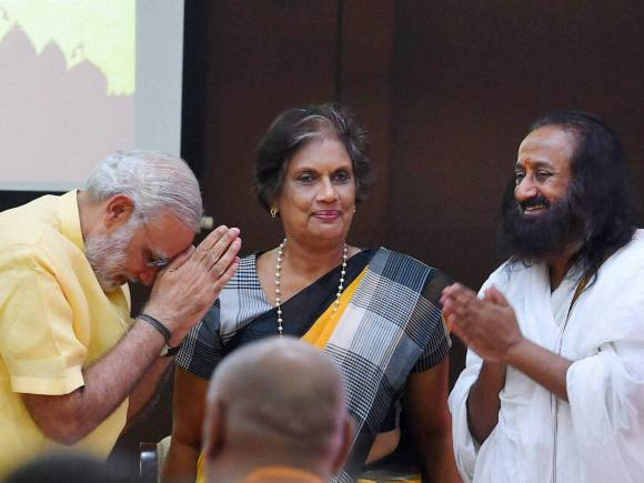 Prime Minister of India, Narendra Modi, Former Sri Lankan President, Chandrika Kumaratunga, Global Hindu, Global Hindu Buddhist Initiative