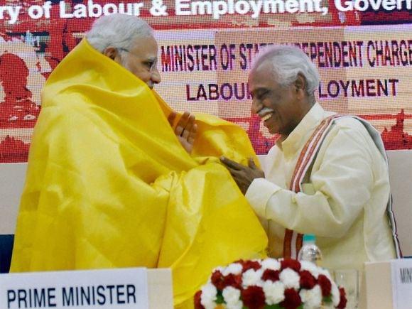Prime Minister of India, Narendra Modi, Indian Labour Conference, Finance Minister of India, Arun Jaitley, Labour, Minister of State for Labour and Employment, Bandaru Dattatreya, ESIC, NCS, New Delhi, 46th Indian Labour Conference
