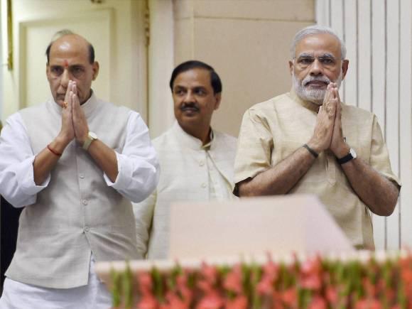 Prime Minister of india, Narendra Modi, Home Minister of india, Rajnath Singh, Finance Minister of india, Arun Jaitley