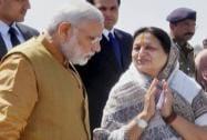 Prime Minister Narendra Modi with Indore Mayor Malini Gaud