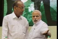 Prime Minister Narendra Modi with Heavy Industries Minister Anant Geete
