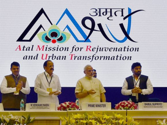 Prime Minister of India, Narendra Modi, Smart City, Atal Mission, Venkaiah Naidu, Mahrashtra CM, Devendra Fadnavis, Khattar, Urban Development Minister of India, Haryana CM, Babul Supriyo