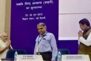 Narendra Modi, Cabinet Secretary, P K Sinha and Mahrashtra CM Devendra Fadnavis