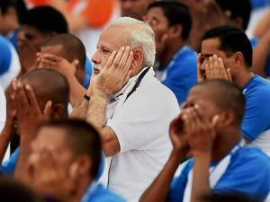 Narendra Modi at International Day of Yoga 2016