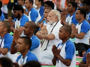 PM Modi at second International Day of Yoga 2016