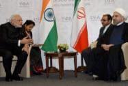 PM Modi meets Iranian President Hassan Rouhani