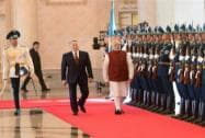 PM Modi with Kazakhstan President  Nursultan Nazarbayev