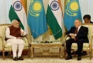 Prime Minister Narendra Modi with Kazakhstan President  Nursultan Nazarbayev