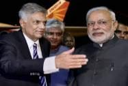 Prime Minister Narendra Modi is received by his Sri Lankan counterpart Ranil Wickremesinghe