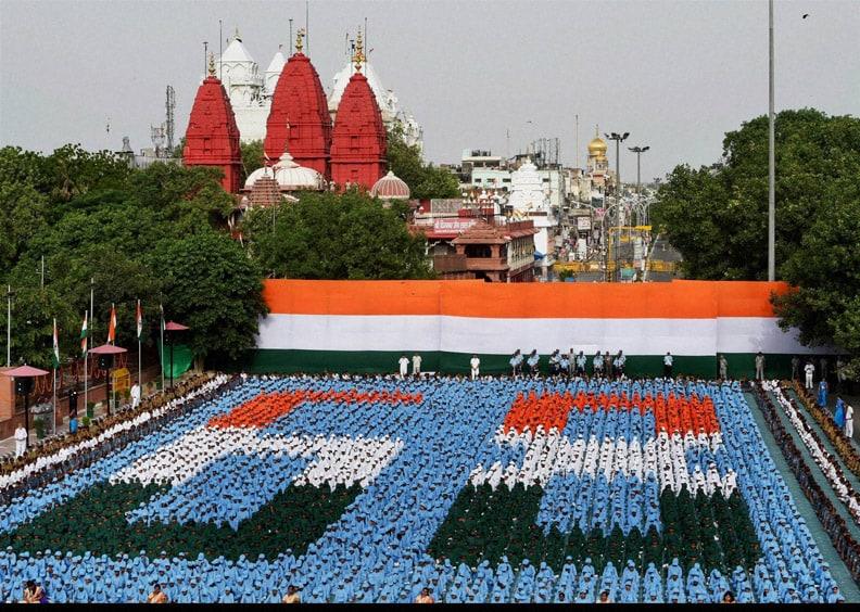 Prime Minister, Narendra Modi, addresses, the Nation, rampart,  historic Red Fort