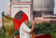 Prime Minister Narendra Modi addresses the nation from Red Fort