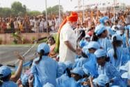 Prime Minister Narendra Modi interacts with school children after addressing the Nation from rampart of the historic Red Fort