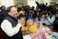 Harsh Vardhan takes charge as Ministry of Health