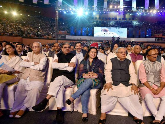 LK Advani, Kalraj Mishra, Jitendra Singh, Goa CM, Laxmikant Parsekar