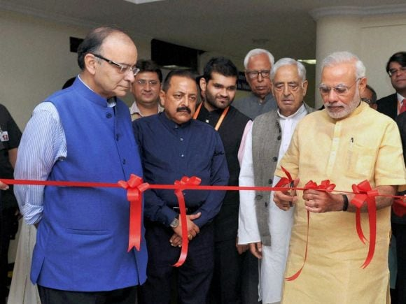 Narendra Modi, Arun Jaitley, Mufti Mohd Sayeed, Jammu, Jammu and Kashmir Governor, NN Vohra, Prime Minister of India, Finance Minister of India, Jitendra Singh, Girdhari Lal Dogra